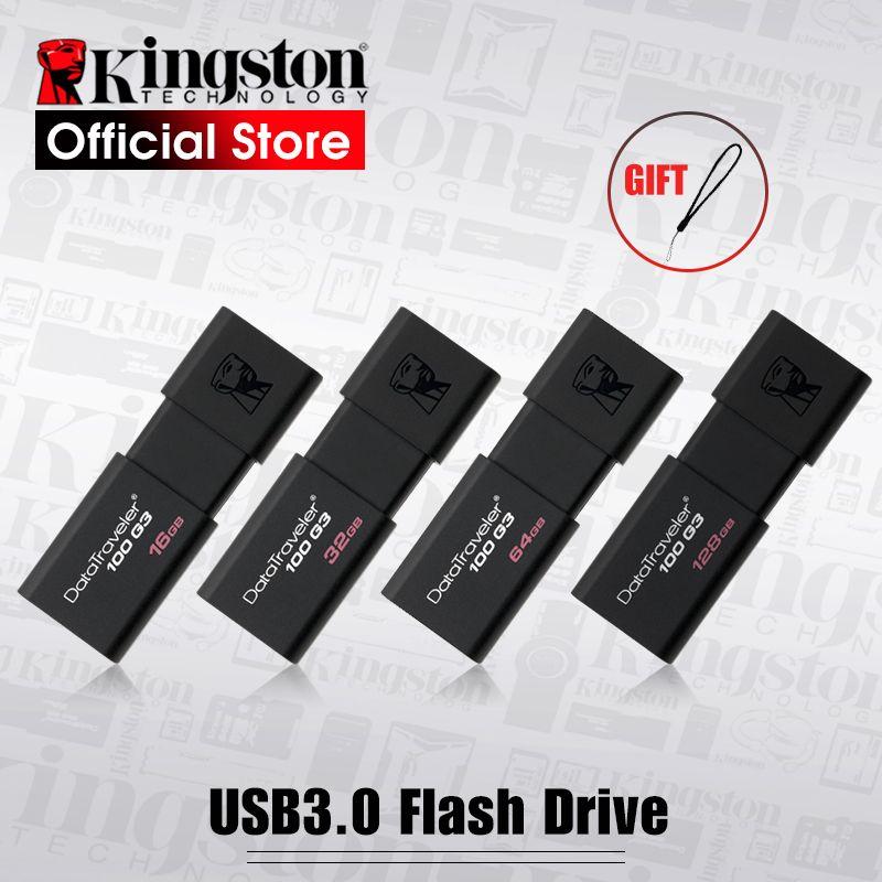 Kingston USB Flash Drives 8 gb 16 gb 32 gb 64 gb 128 gb USB 3.0 Pen Drive haute vitesse penDrives DT100G3