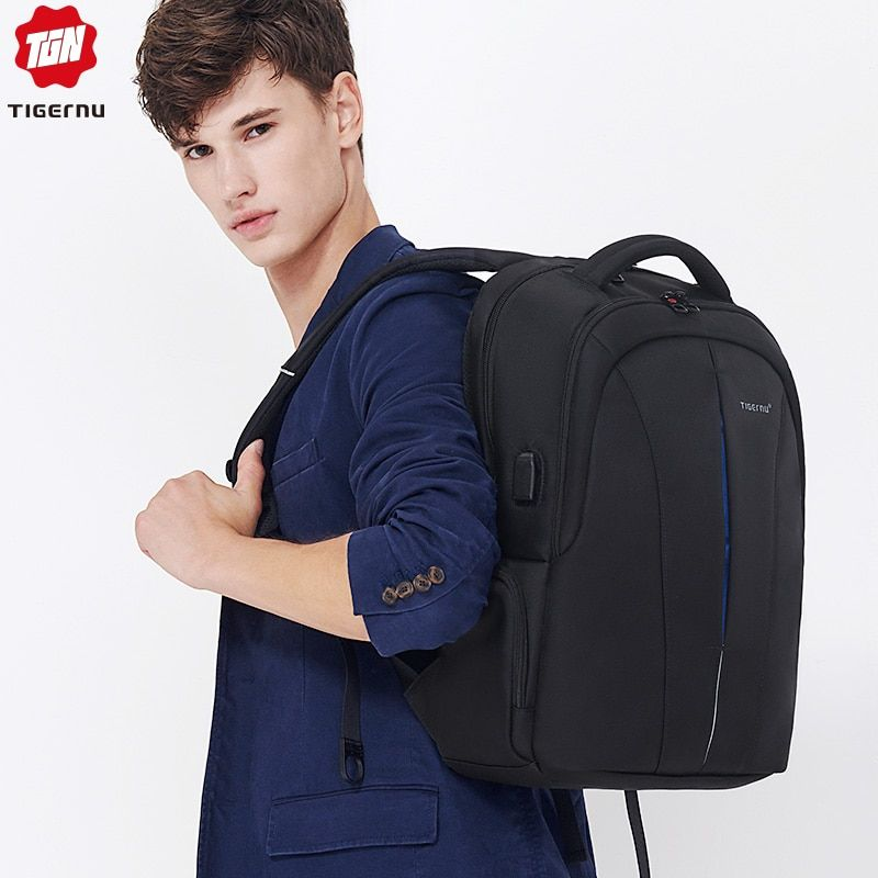 Tigernu étanche 15.6 pouces sac à dos pour ordinateur portable pas de clé TSA Anti-vol hommes sacs à dos voyage adolescent sac à dos sac à dos homme mochila