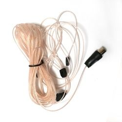 FM Antena Konektor Udara Dipole HD Radio Kabel Penghubung 75 Ohm UNTUK Stereo 5 M Aerial Kabel Penghubung Kabel Pal konektor Baru