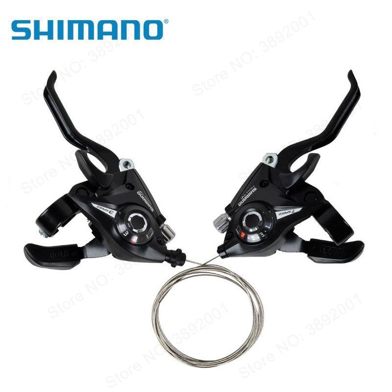 Shimano Bicycle Shifters ST-EF51-7 EF51 Mountain Bike Shifter Set Cycling Levers Shift Levers 21 24 speeds Black
