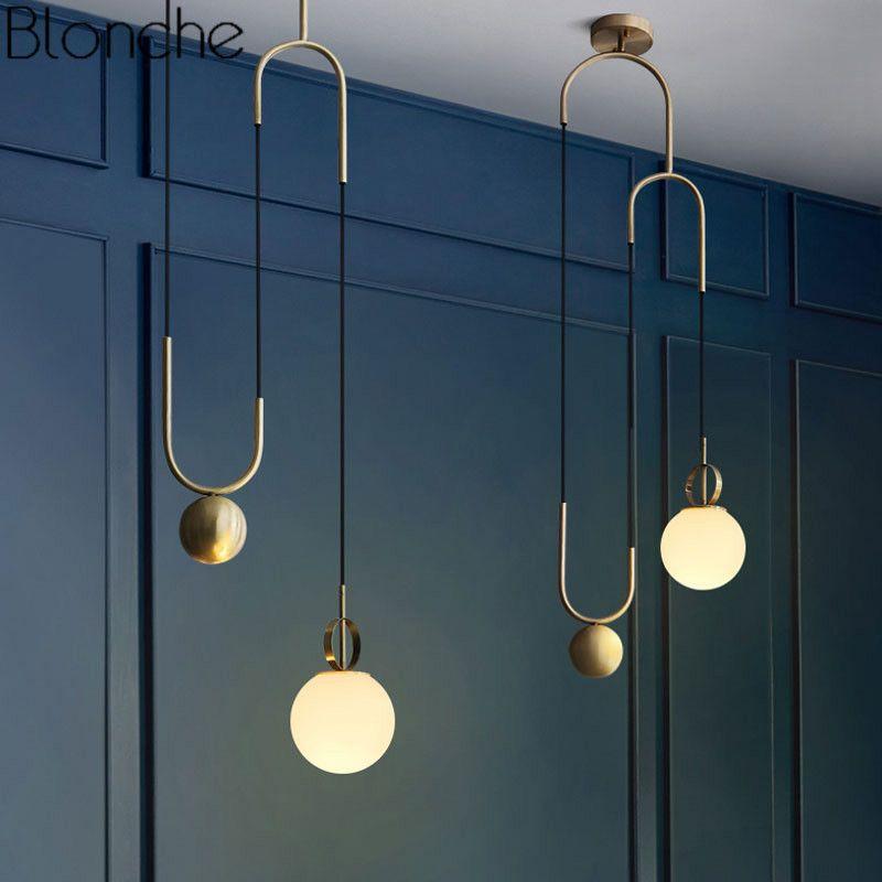 Moderne Nordic Glas Anhänger Lichter Lampe Industrielle Ball Hanglamp Für Home Deco Schlafzimmer Bar Leuchten Küche Leuchte