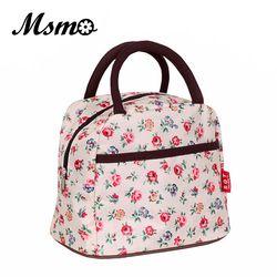 MSMO 2019 новая популярная Сумочка для обедов с рисунком, женская сумка, водонепроницаемая сумка для пикника, ланчбокс для детей и взрослых, 22 цв...