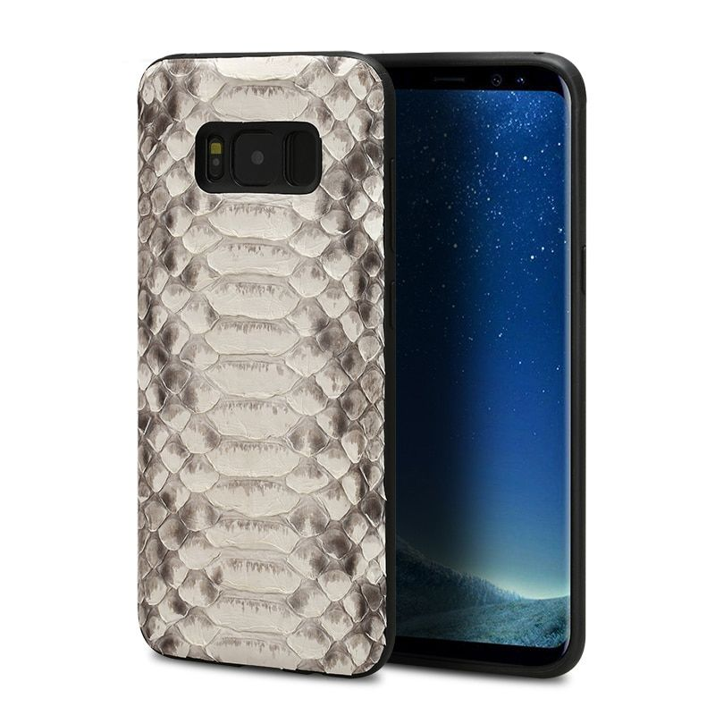 python skin phone case forSamsung S8 phone case Luxury Genuine Leather all-inclusive phone case for samsung series