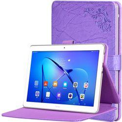Защитный Принт цветок кожаный чехол для Huawei MediaPad T3 10 ags-l03 ags-l09 9.6 дюймов Планшеты принт Стенд обложка + подарок