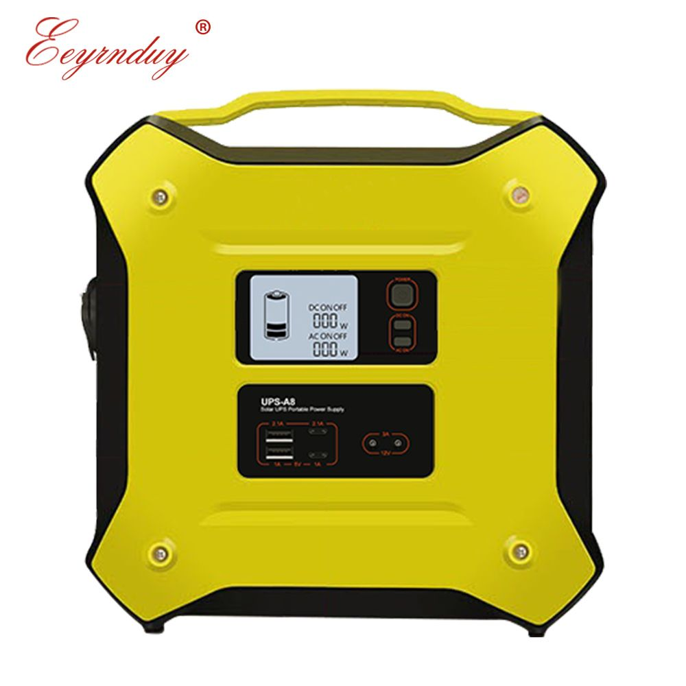 12 v AC DC 500 watt tragbare UPS solar batterie unterbrechungsfreie multi-funktion im freien energie lagerung notfall power versorgung