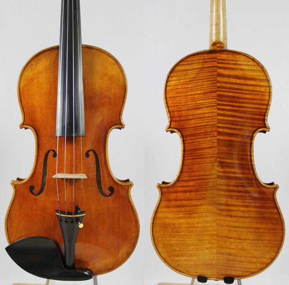Free Shipping, Copy of Stradivari GEIGE Violin #162 Antique Oil Varnish + Case Bow Rosin!Free Shipping!Aubert Bridge!