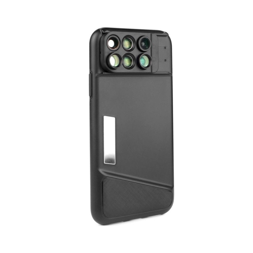 Cell Phone Camera Lens Kit for iPhone X Fisheye Wide-angle Telephoto Macro Zoom Lens with TPU Protective Phone Case for iPhone X