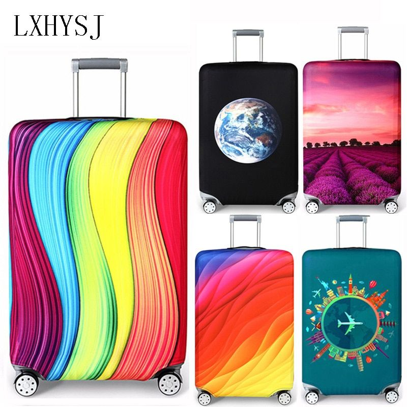 LXHYSJ Elastic Fabric Luggage <font><b>Protective</b></font> Cover, Suitable18-32 Inch , Trolley Case Suitcase Dust Cover Travel Accessories