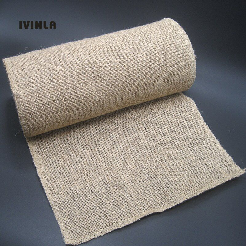 1 Roll/Lot 30CM *10M Natural Jute Burlap Fabric Roll For wedding Party Decoration candy Gift Packing