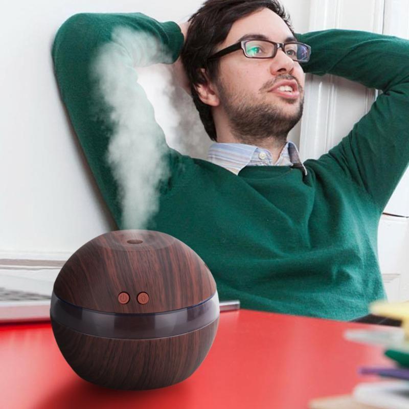 300 мл Освежители воздуха мини-увлажнитель аромат Эфирные масла диффузор Воздухоочистители деревянный usb ультразвуковой тумана для Офис