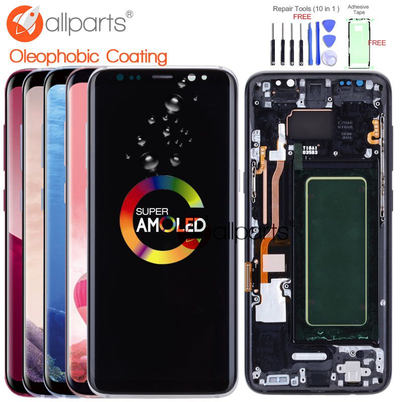 ORIGINAL AMOLED for SAMSUNG S8 LCD Display Touch Screen Digitizer Replacement for SAMSUNG GALAXY S8 Plus LCD SAMSUNG S8 Screen
