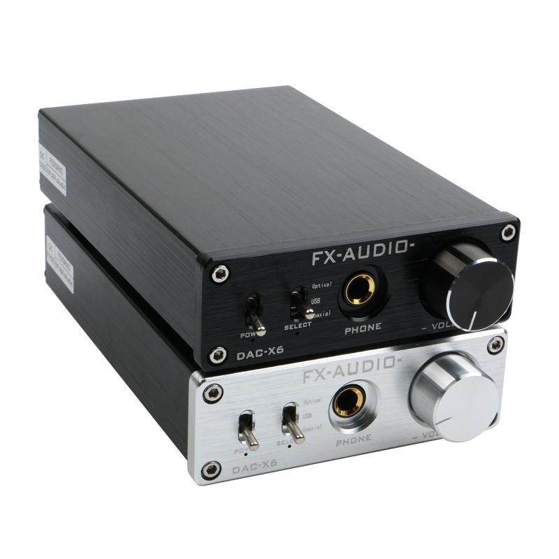 FX-AUDIO DAC-X6 HiFi 2.0 décodeur Audio numérique entrée DAC USB/Coaxial/sortie optique RCA/amplificateur casque 24Bit/96 KHz DC12V
