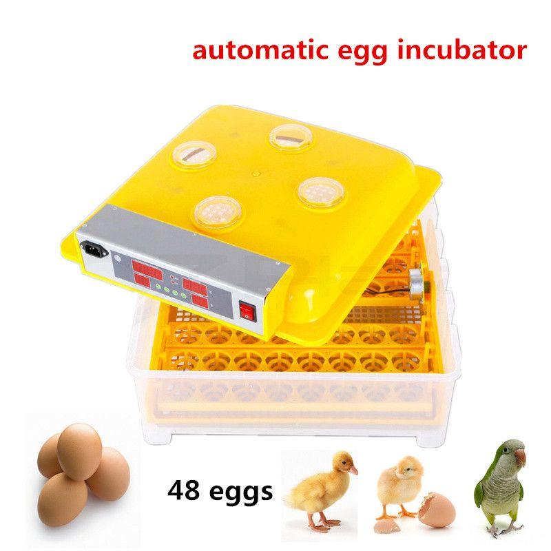 Mini heimgebrauch Kapazität 48 eier Vollautomatische Eibrutkasten für Huhn mit Digital Kommerziellen Thermostatsteuer 80 Watt