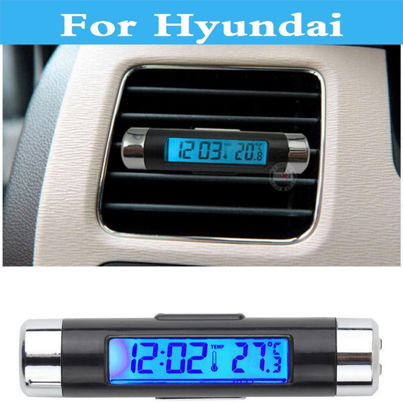 auto LED Digital Thermometer Clock Calendar Car Time Clock For Hyundai Atos Accent Aslan Avante Centennial Tuscani Verna hot