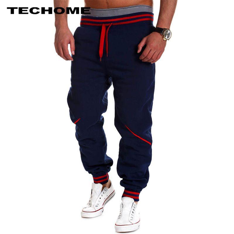 2017 hombres de marca Pantalones hip hop harem joggers Pantalones masculino Pantalones mens joggers sólido Pantalones de chándal tamaño grande m-4xl