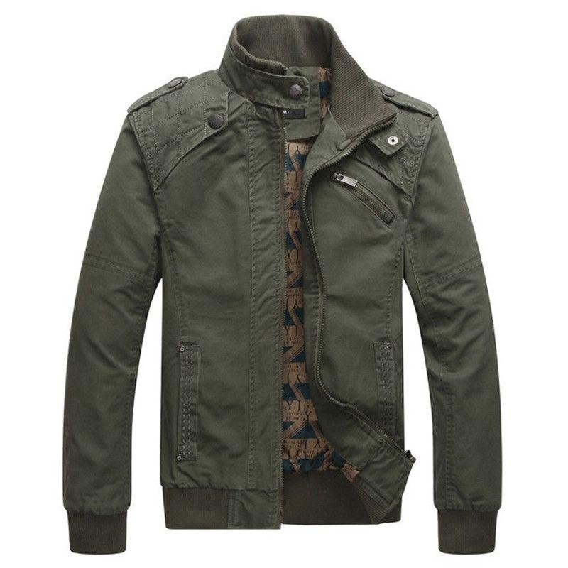Nouvelle mode hiver veste hommes décontractée coton col montant manteaux armée militaire Outwear mâle vêtements pardessus Jaqueta Masculina