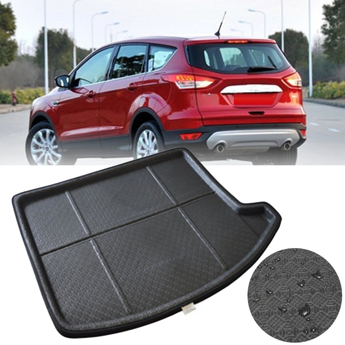 For Ford Escape Kuga 2013~2017 Rear Trunk Cargo Boot Liner Tray Protector Mat Car Carpet Mats