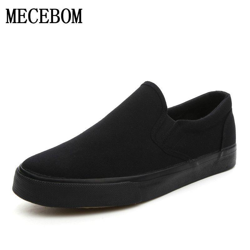 Hommes de toile chaussures de mode respirant slip-on plat mocassins noir Hommes Vulcanisé Chaussures chaussure homme taille 39-44 h1688