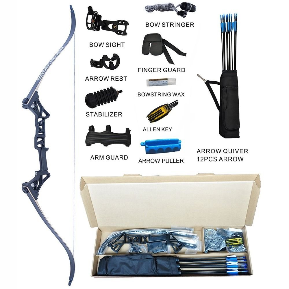 Topoint Archery Takedown Recurve Bow Package R3 Ready To Shoot Archery Set For Bow hunting