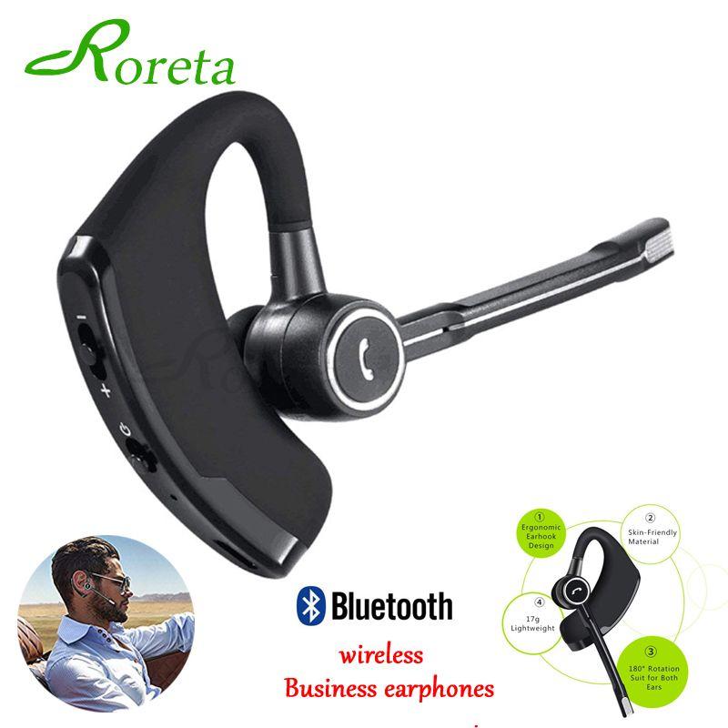 Roreta nouveau V8S affaires Bluetooth casque sans fil écouteur voiture Bluetooth V4.1 téléphone mains libres avec micro musique pour iPhone Xiaomi