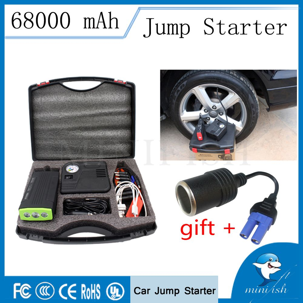 Fast Delivery Multi-function Mini Portable Car Jump Starter 68000mAh 12V High Capacity Vehicle Engine Booster Battery Charger