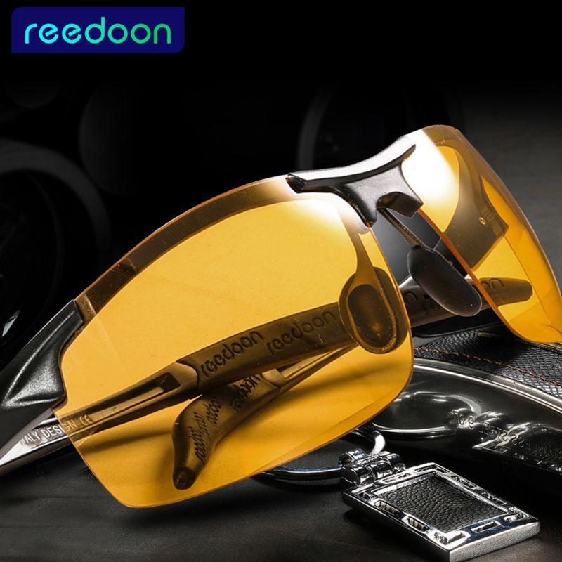 2016 Day Night Vision Goggles <font><b>Driving</b></font> Polarized Sunglasses for men's car <font><b>Driving</b></font> Glasses Anti-glare Alloy Frame glasses night