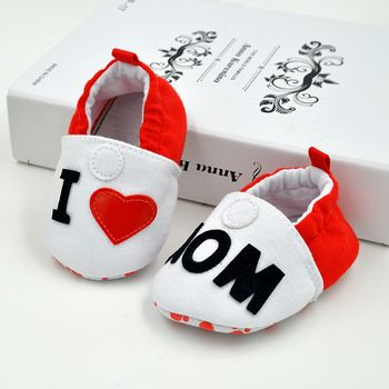 2019 Superman I love MOM Baby Shoes Indoor Floor Slippers Soft Cloth Bottom Crib Shoes Infant Toddler Shoes Foot Sock