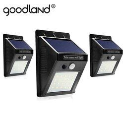 Goodland светодиодный солнечный свет уличная Солнечная лампа с датчиком движения на солнечных батареях водонепроницаемый для сада настенный с...