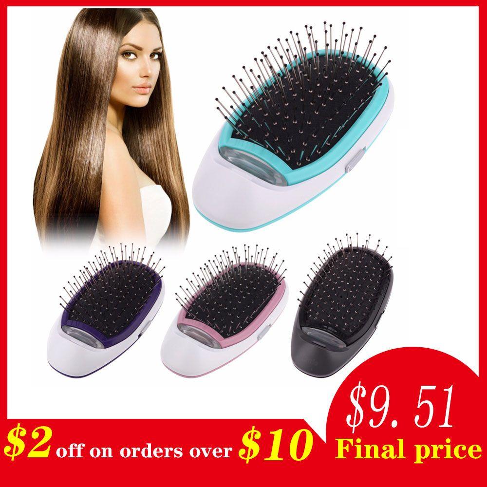 Brosse à cheveux électrique ionique, brosse à cheveux ionique électrique Portable Ions négatifs brosse à cheveux peigne modélisation des cheveux brosse à cheveux magique