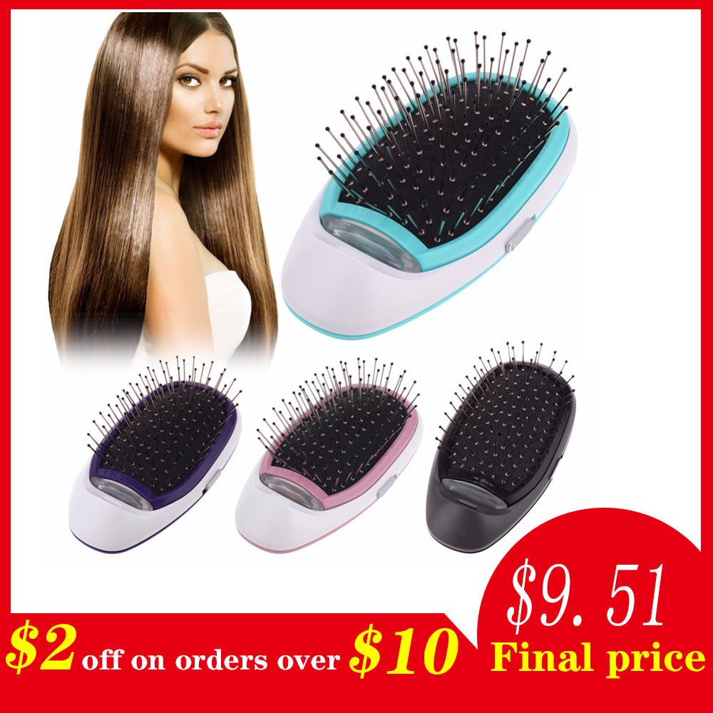 Ionic Electric Hairbrush, Portable Electric Ionic Hairbrush Negative Ions Hair Comb Brush Hair Modeling Styling Magic Hairbrush