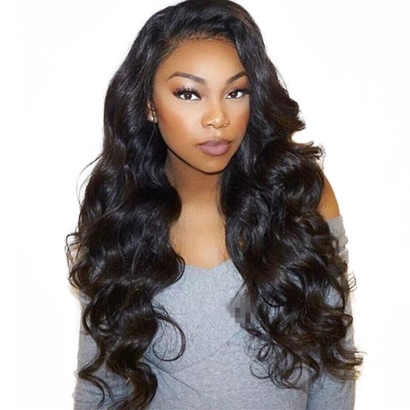 Lace Front Human Hair Wigs For Women <font><b>Black</b></font> Body Wave 13X4 Lace Wig Full Thick 250 Density Brazilian Lace Front Wig Remy Prosa