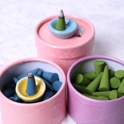 1 caja pagoda incienso aroma diferente para el hogar dormitorio Rosa lavanda jazmín osmanthus incienso natural incienso hogar Set