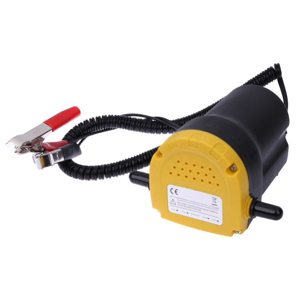 12V 60W Car Oil/Diesel Fluid Sump Extractor Scavenge Exchange Fuel Transfer Pump Boat Motorbike Oil Pump Automobiles Accessories