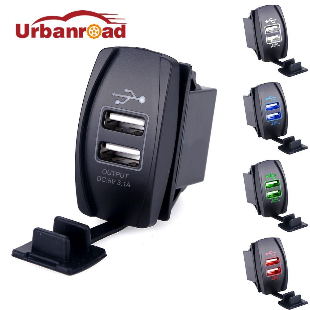 Universal Dual USB Chargeur De Voiture Adaptateur D'alimentation 12-24 V 3.1A Double USB Prise Chargeur Pour iPhone 5 6 6 S Ipad Samsung Tablet