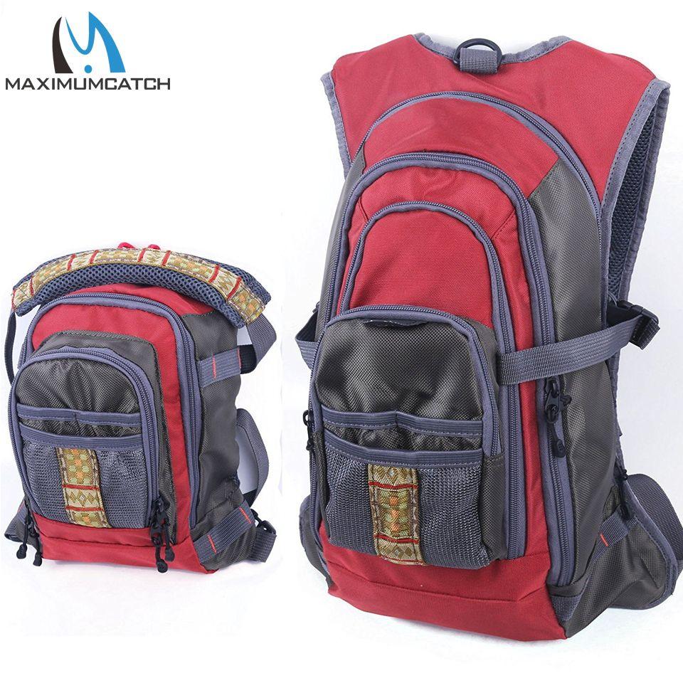 Maximumcatch Angeltasche Fliegenfischen Rucksack mit Angelgerät Brust Pack