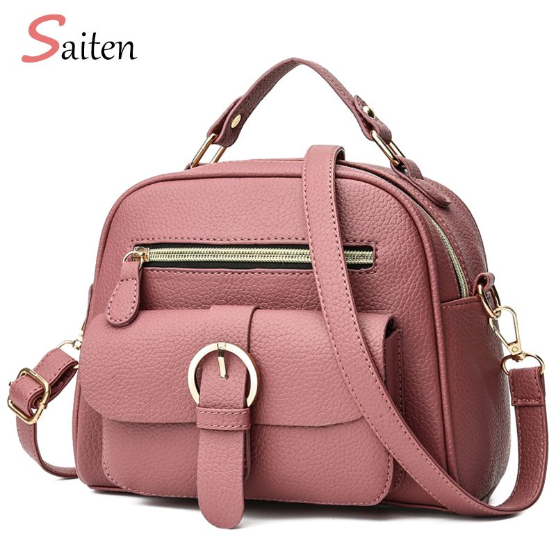 New 2019 Leather Pu Handbag women handbags Litchi Fashion Ladies Shoulder Bags High Quality hand bag woman pink Messenger bag