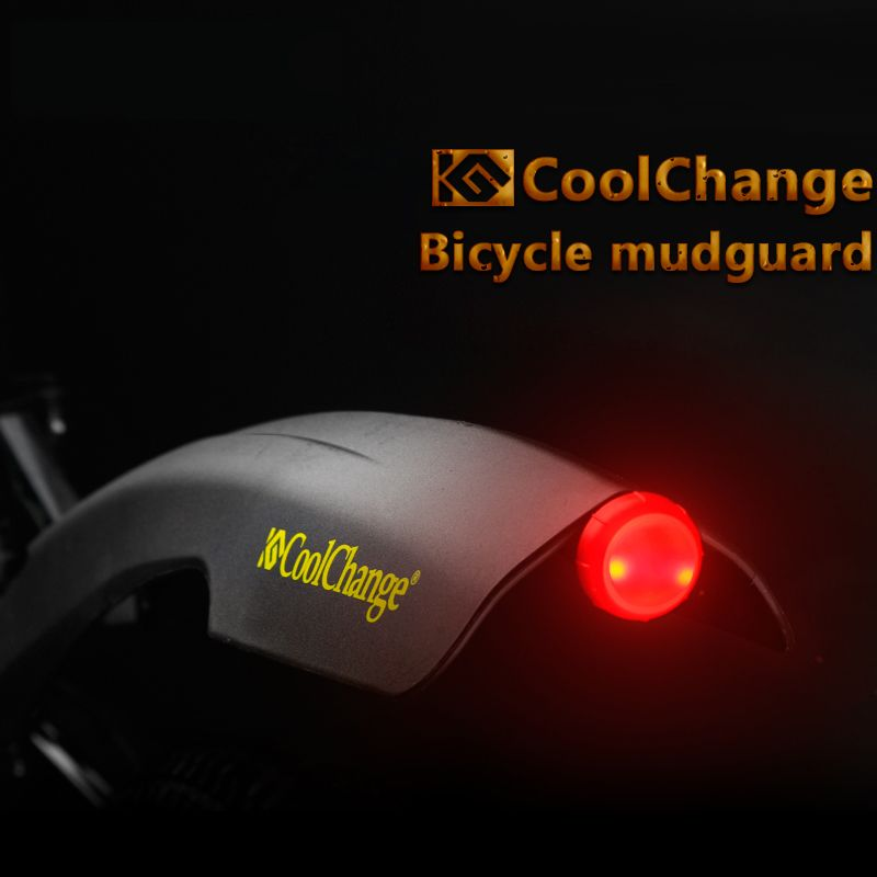 Brand 26 Inch Front Rear Flectional Bicycle Fenders Set with Warning Led Light Cycling Bike Mudguard Sets Bicycle Parts