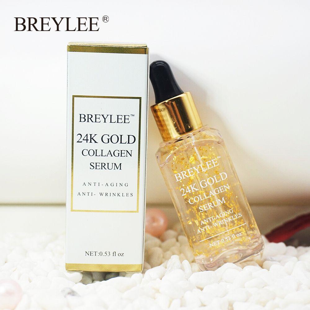 BREYLEE 2018 new Brand 24k Gold Serum Collagen Essence Anti Aging Anti Wrinkles Face Skin Care Lift Firming Face Care Whitening