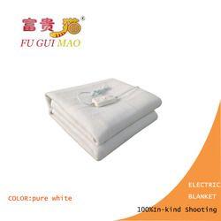 FUGUIMAO электрическое одеяло двойное чисто Белое Электрическое подогреваемое одеяло 220 В подогреваемое одеяло грелка для тела 150x120 см Матрас С...