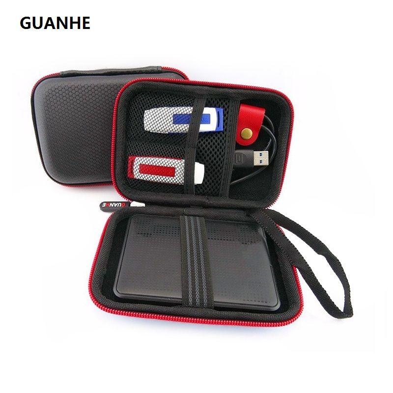 GUANHE 2.5 pouces HDD sac de disque dur batterie externe mobile U boîtier de disque dur externe HDD sac pour WD my passeport seagate HDD