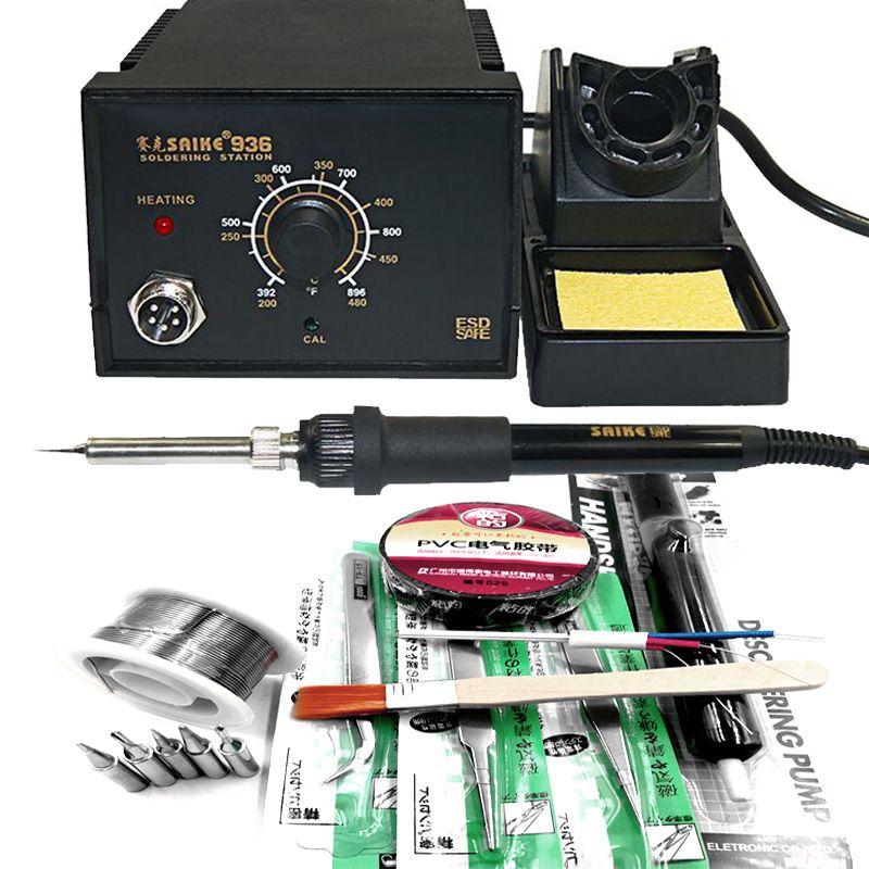 SAIKE 936 station de soudure Électrique de fer + A1322 céramique élément chauffant + de nombreux cadeaux comme photo 220 V