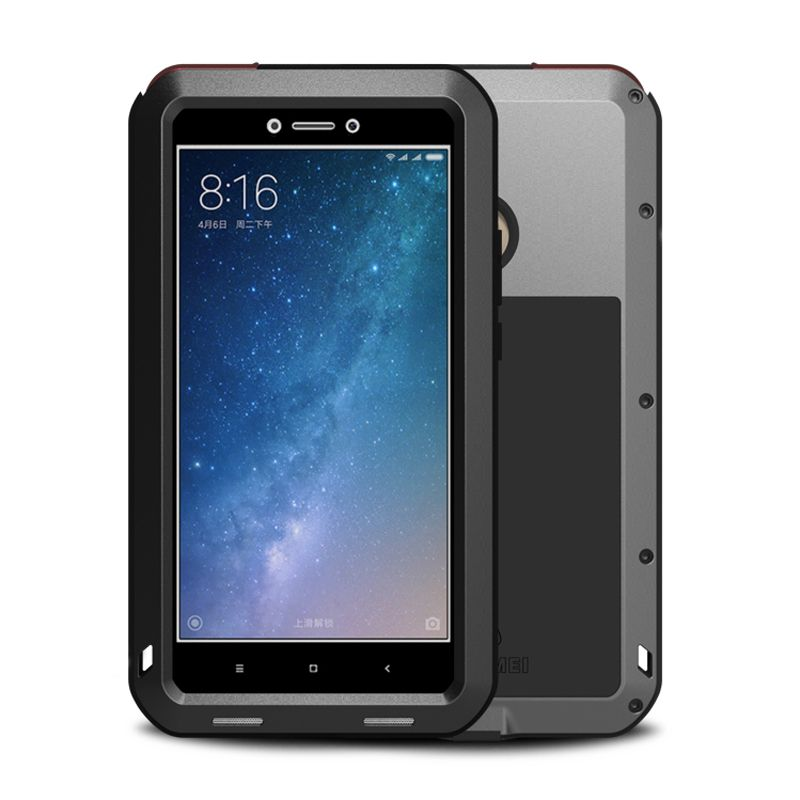 Aluminum Metal Case sFor Xiaomi Max 2 Case Armor Full Phone Body Protective Cover Shockproof Heavy Duty sFor Xiaomi Mi Max2 Case