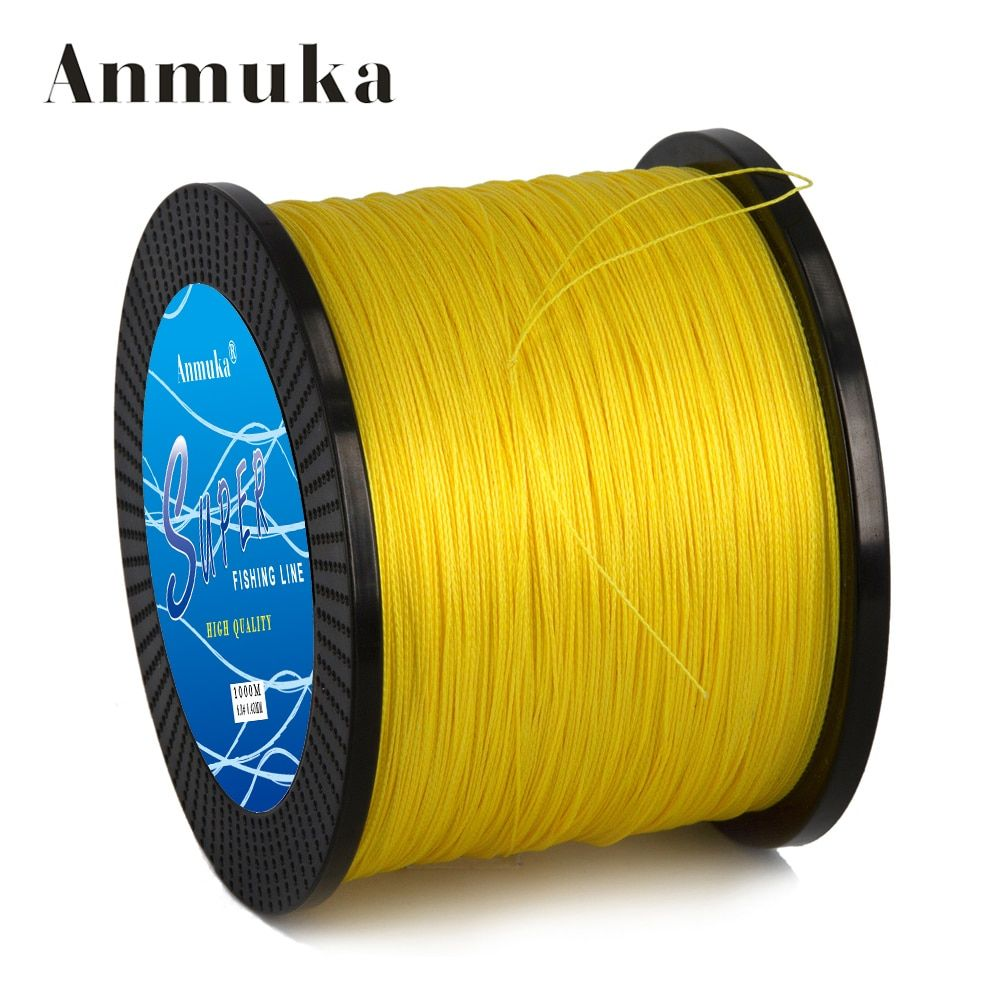 Anmuka Super 1000m 10 - 80LB PE Multifilament 4 Strands Braid Line Ocean Fishing Super Strong Carp Braided Fishing Line