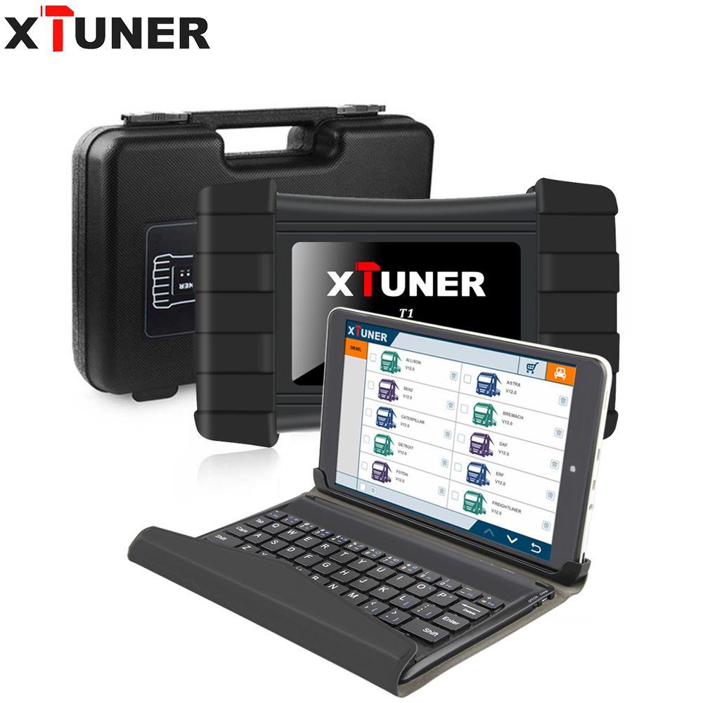 XTUNER T1 V9.6 HD Heavy Duty Truck Scanner Auto Diagnose Werkzeug Mit Lkw Airbag ABS DPF EGR Reset + 8 zoll WIN10 OBD2 Autoscaner