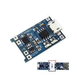 1PCS 5V 1A Micro USB 18650 Lithium Battery Charging Board Charger Module+Protection Dual Functions TP4056