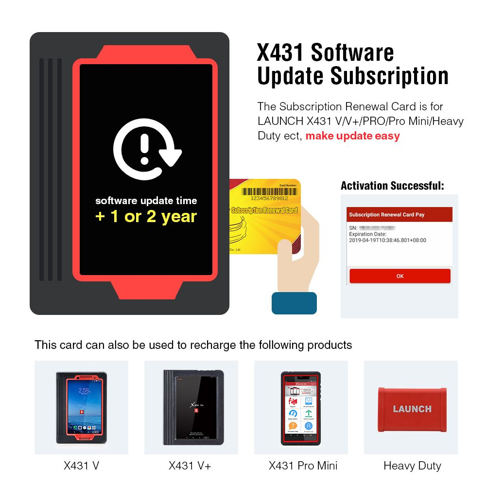LAUNCH Official Store Pin card software update card support X431 V/V+/PRO/Pro Mini/Heavy Duty, ect in stock