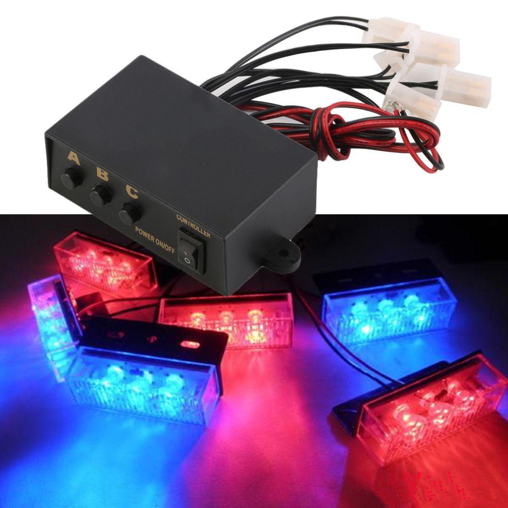 6 способов мигающий светодиод Light 3 мигающий режимы контроллер Flash Light лампа аварийной мигающий контроллер Box 12 В для автомобиля мотоцикл