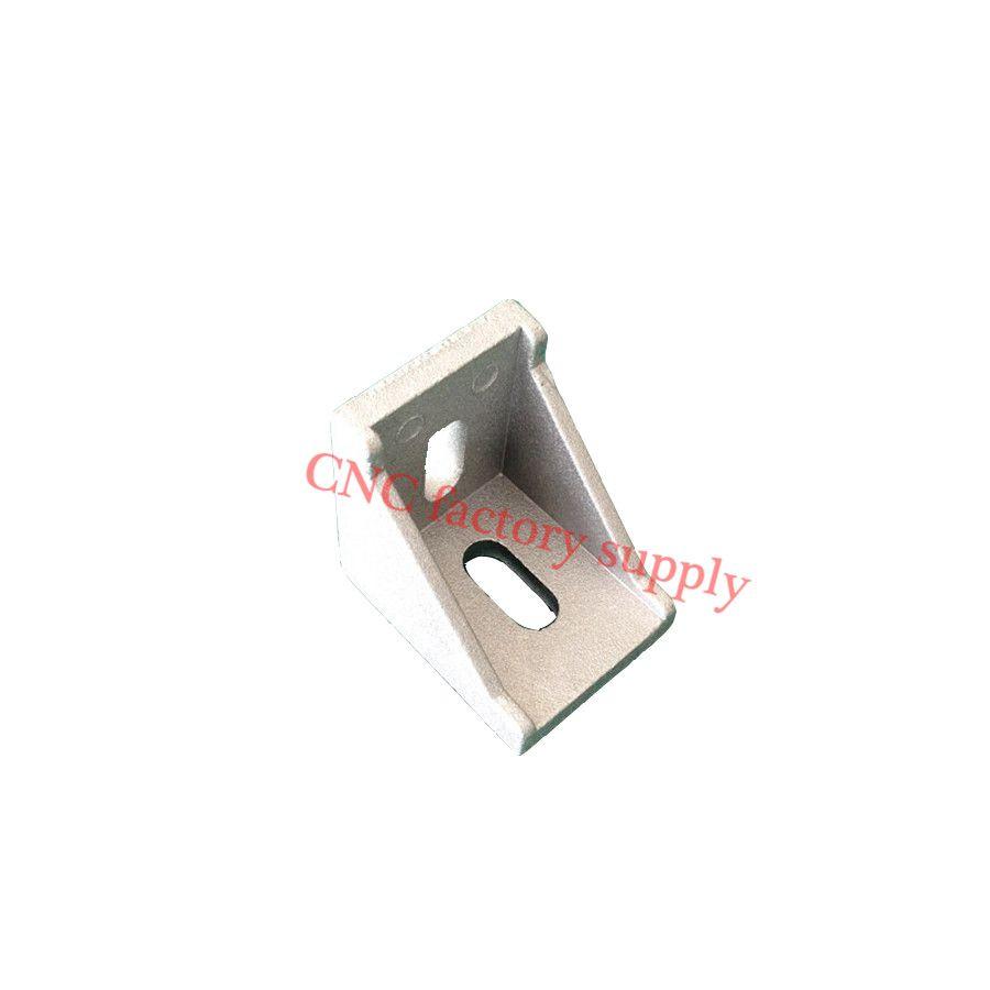 HOTSale  3030 corner fitting angle aluminum connector bracket fastener 20/30/40/45/60/80 series industrial aluminum profile