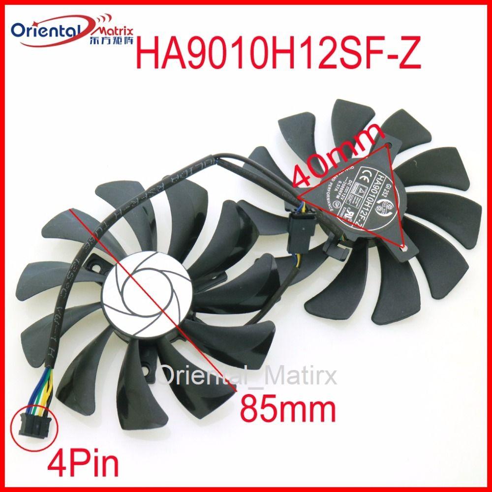 HA9010H12SF-Z 12 v 0.57A 85mm 40*40*40mm 4 Draht 4Pin VGA Fan Für MSI GTX1050TI GTX 1060 GTX1060 Grafikkarte Lüfter