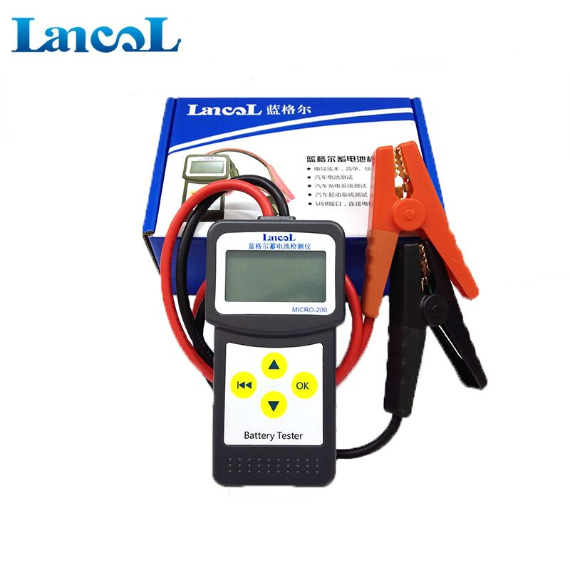 Professional diagnostic tool Lancol Micro 200 Car Vehicle BatteryTester Analyzer 12v  cca battery system tester USB for Printing